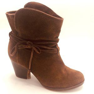 Mia Dani Suede Leather Ankle Boots 7.5